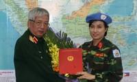 La 1ère femme soldat vietnamienne aux opérations de maintien de la paix de l'ONU