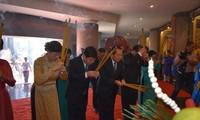 Offrandes aux rois fondateurs Hùng et au génie Nguyên Huu Canh