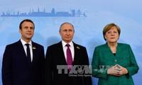 Syrie: entretien dimanche de Macron et Merkel avec Poutine