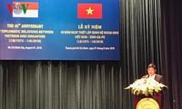 Célébrations du 45e anniversaire des relations diplomatiques Vietnam-Singapour