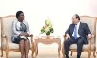 Le PM reçoit une vice-présidente de la Banque mondiale