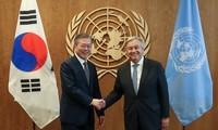 Moon Jae-in cherche un soutien international en faveur des liens intercoréens