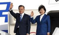Moon Jae-in arrive en France pour une visite d'État