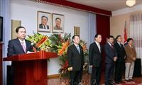 Réception en l'honneur du 60e anniversaire de la visite de Kim Il-sung au Vietnam