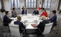"""Les dirigeants du G7 affichent une """"grande unité"""" à l'issue du sommet"""