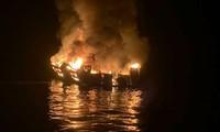 Californie: huit morts et 26 disparus dans l'incendie d'un bateau