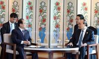 Nguyên Xuân Phuc rencontre le maire de la ville de Busan