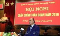 Nguyên Xuân Phuc à la conférence bilan de l'armée 2019