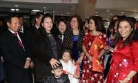 Nguyên Thi Kim Ngân rencontre des Vietnamiens vivant en Russie