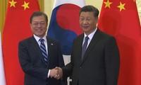 Rencontre Xi Jinping — Moon Jae-in