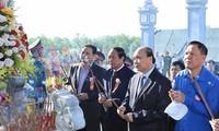Le PM à l'inauguration du site dédié aux morts pour la Patrie de Nui Quê
