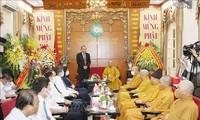 Vesak: Truong Hoà Binh présente ses voeux aux bouddhistes