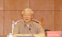 Nguyên Phu Trong à la réunion de la Direction centrale anti-corruption