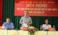 Trân Quôc Vuong rencontre l'électorat de Yên Bai