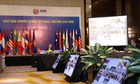 Visioconférence des hauts officiels des 18 pays membres du sommet d'Asie de l'Est (EAS)