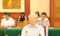 Le bureau politique se prononce sur les documents du congrès du Comité du Parti de Hô Chi Minh-ville