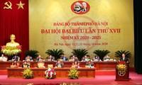 Ouverture du 17e congrès de l'organisation du Parti pour la ville de Hanoi
