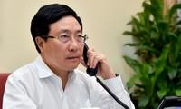 Entretien téléphonique Pham Binh Minh – Geofrey Onyeama
