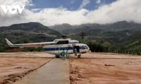 Molave : des hélicoptères mobilisés pour distribuer des denrées aux sinistrés