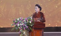 Nguyên Thi Kim Ngân à la cérémonie célébrant les 990 ans de la dénomination Nghê An