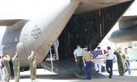 Rapatriement de restes de soldats américains disparus pendant la guerre