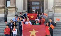 Fête nationale: première levée des couleurs vietnamiennes à Jersey (États-Unis)
