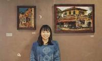 ハノイへの愛を漆絵に託す日本の女性画家濱田恵理子