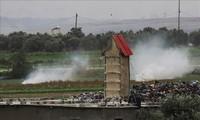 ロケット弾攻撃を受けた後、イスラエルがガザ地区を空爆