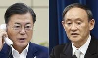 日韓首脳がG7であいさつ 文氏から菅首相に歩み寄り声を掛ける