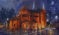 ドアン・クオックさん 水彩画でホーチミン市を描く