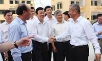 Presiden Truong Tan Sang melakukan kunjungan kerja di provinsi Quang Ninh.