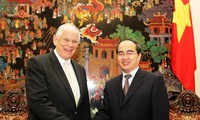 阮善仁会见奥地利克雷姆斯高等专业学院董事会主席博耶·海因茨