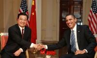 胡锦涛与奥巴马举行会谈