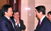 武德担部长会见柬埔寨副首相索安