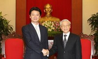 阮富仲与阮晋勇会见日本外务大臣玄叶光一郎