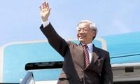越共中央总书记阮富仲对新加坡进行正式访问