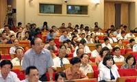 越南13届国会4次会议继续讨论对任职人员进行信任调查和信任投票问题