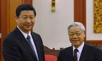 阮富仲总书记向新任中共中央委员会总书记习近平致贺电