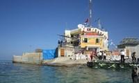 向长沙群岛拉特礁驻军指战员赠送年货