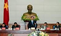 阮晋勇与河江省主要领导同志座谈