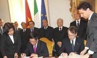 越南与意大利签署建立战略伙伴关系的联合声明