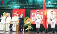 张晋创主席出席第一人民安全中专获颁一级军功章仪式