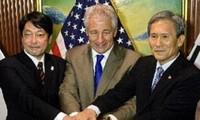 美国、日本、韩国敦促朝鲜实现无核化