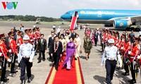 越南国家主席张晋创同印度尼西亚总统苏西洛举行会谈