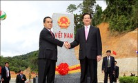 越南和老挝完成现代化、永久界碑系统竖立工作