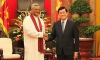 张晋创会见斯里兰卡议会议长拉贾帕克萨