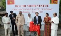 胡志明主席塑像在斯里兰卡动工