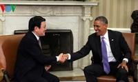 越美元首会谈,确立两国全面伙伴关系