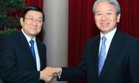 张晋创会见日本国际协力机构新任理事长
