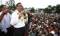 柬埔寨反对党举行第二场大规模游行